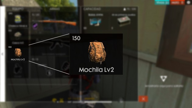Free Fire: Mochila