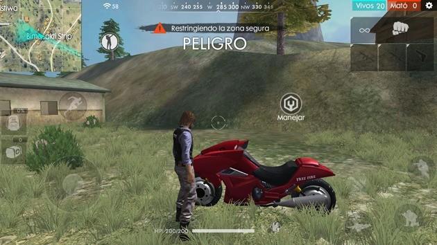 Free Fire - Vehículos: Moto