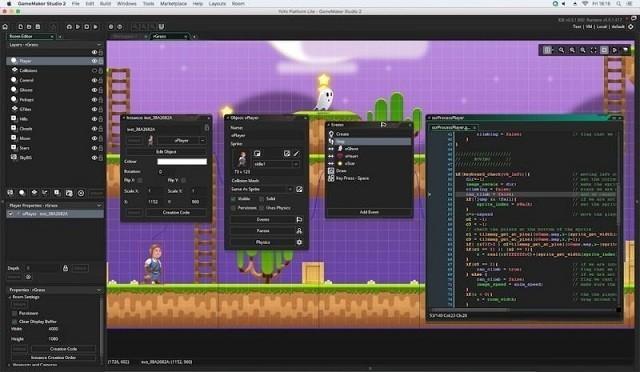 Programas para crear videojuegos - GameMaker Studio 2