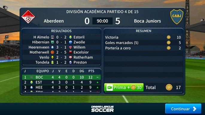 Ganar por goleada Dream League Soccer