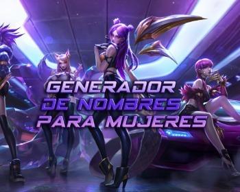 Generador de nombres para mujeres en RPGs, juegos de tiros y más