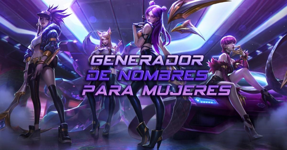 Generador De Nombres Para Mujeres En Rpgs Juegos De Tiros Y Más Liga De Gamers