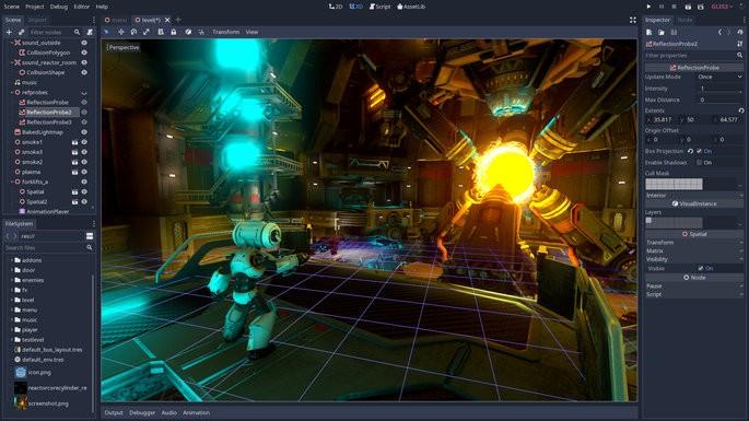 Programas para crear videojuegos - Godot Engine