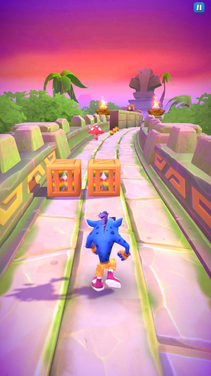 Golpear dos cajas - Crash Bandicoot On The Run