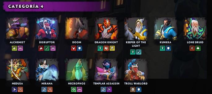Héroes de categoría 4 en Dota Underlords