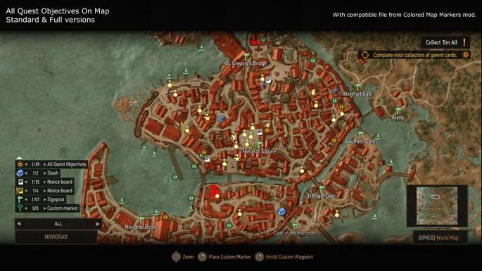 Iconos de mercaderes y misiones The Witcher 3 mods