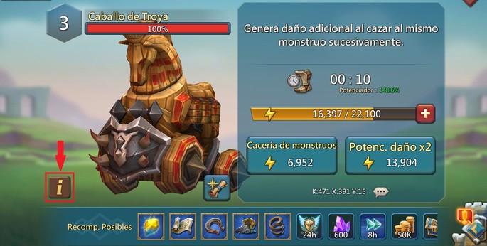 Información del monstruo - Guía Cacería de monstruos Lords Mobile