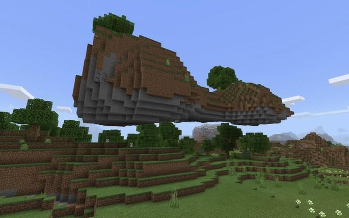 Isla flotante - Semilla de Minecraft PE