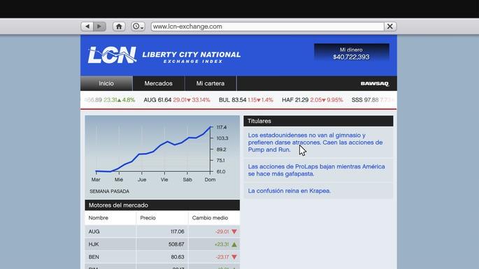 LCN bolsa de valores GTA V