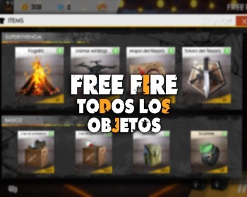 ¡La gran lista con todos los objetos de Free Fire!