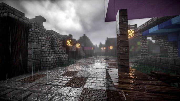 Lluvia en Minecraft