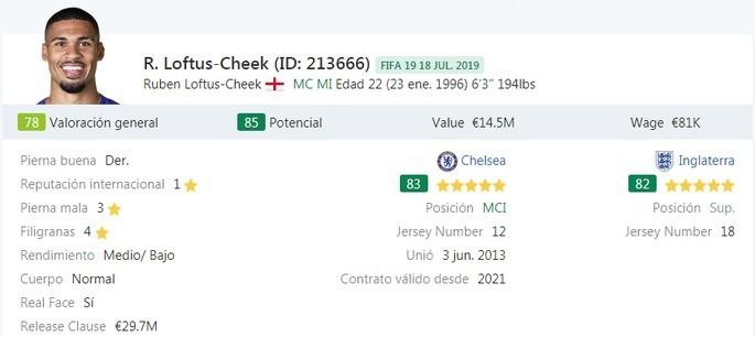 Loftus-Cheek en préstamo - FIFA 19