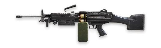 M249 - Free Fire - Ametralladora pesada