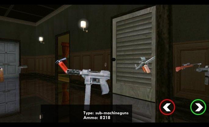 Menú de armas en 3D