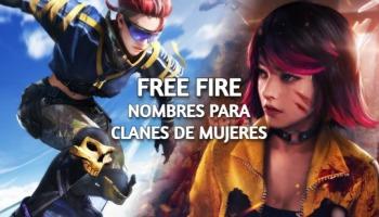 Nombres para clanes de Free Fire para mujeres