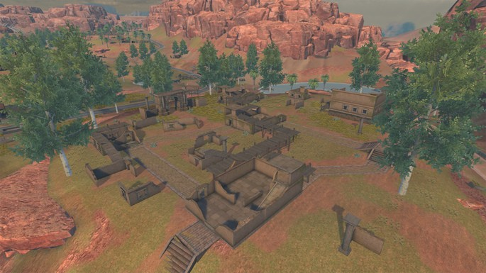 Old Hampton - Mapa Kalahari Free Fire