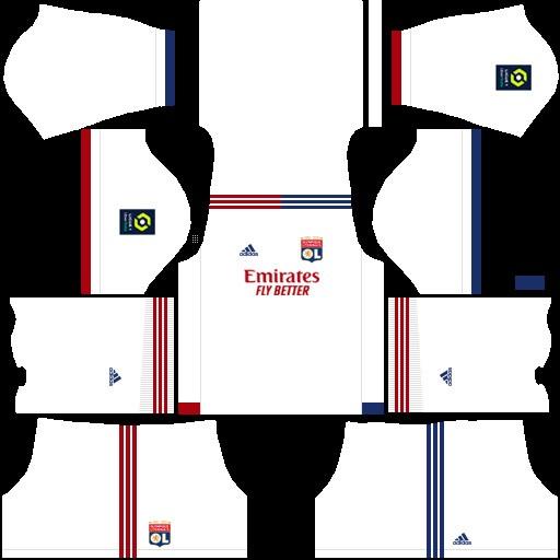 Olympique de Lyon dream league soccer kit