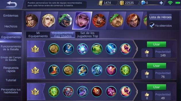Mobile Legends optimizar equipamiento