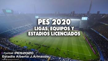 PES 2020: todas las ligas, equipos y estadios licenciados