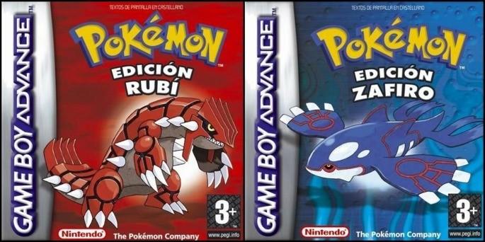 Pokémon Rubí y Zafiro - Mejores juegos GBA