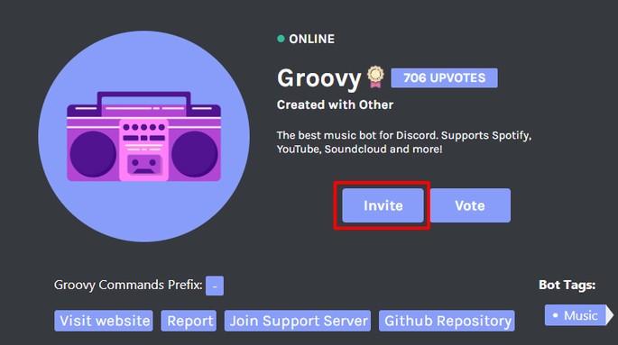 Poner bot de música en Discord - Groovy