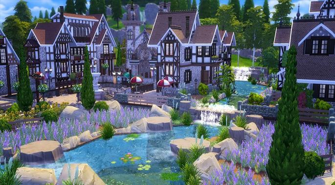 Pueblo Francés Los Sims 4
