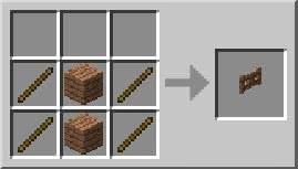Puerta de madera Minecraft