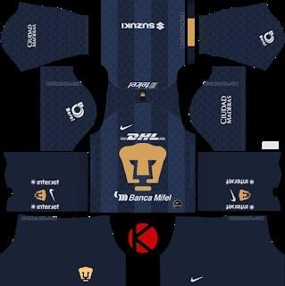 Pumas UNAM equipación visitante