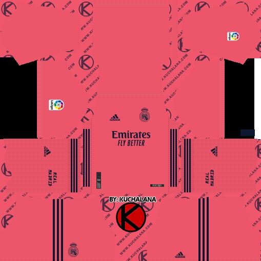 Kit reserva Dream League Soccer Real Madrid