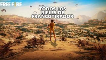 Todos los rifles de francotirador de Free Fire