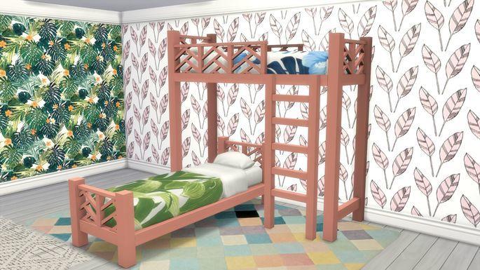 Sims 4 Set de literas, camas y sillas