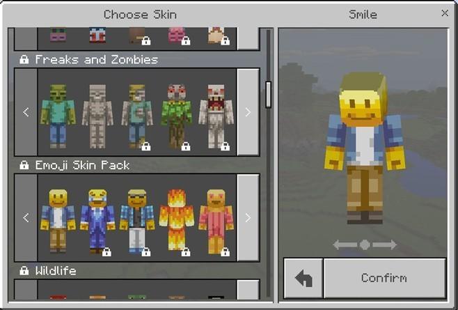Skins en el juego Minecraft