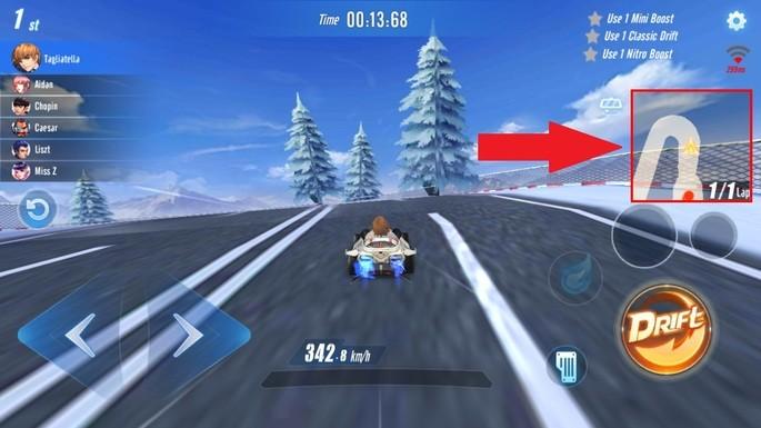 Speed Drifters: conoce los circuitos y observa el minimapa
