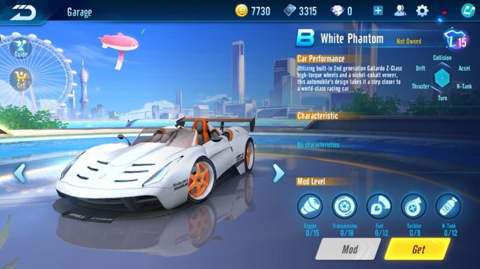 Speed Drifters - Clase B: Fantasma Blanco