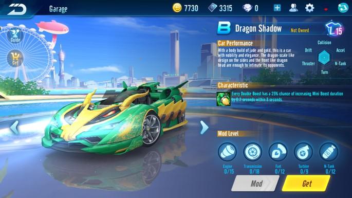 Speed Drifters - Clase B: Sombra del Dragón