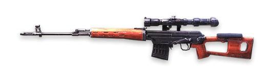 SVD Rifles de francotirador Free Fire