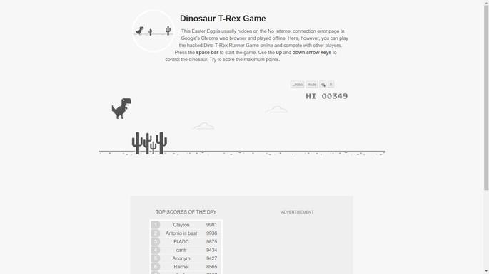 T-Rex Game - Juegos FRIV y de navegador