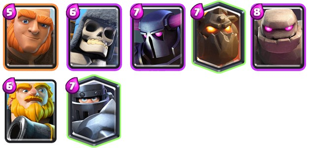 Tanques de Clash Royale