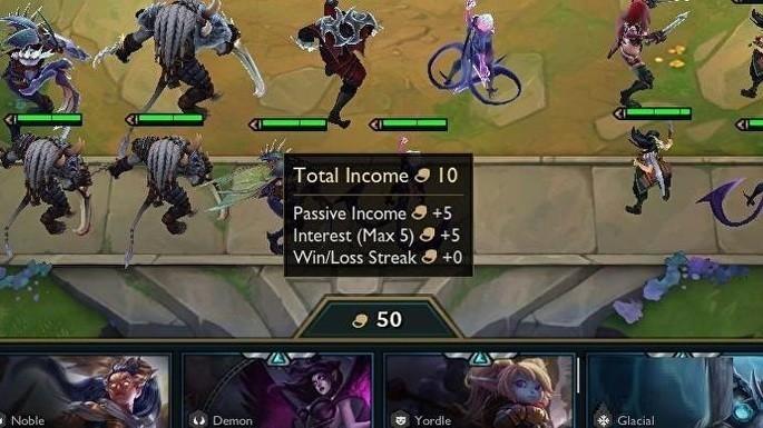 Oro en TeamFight Tactics