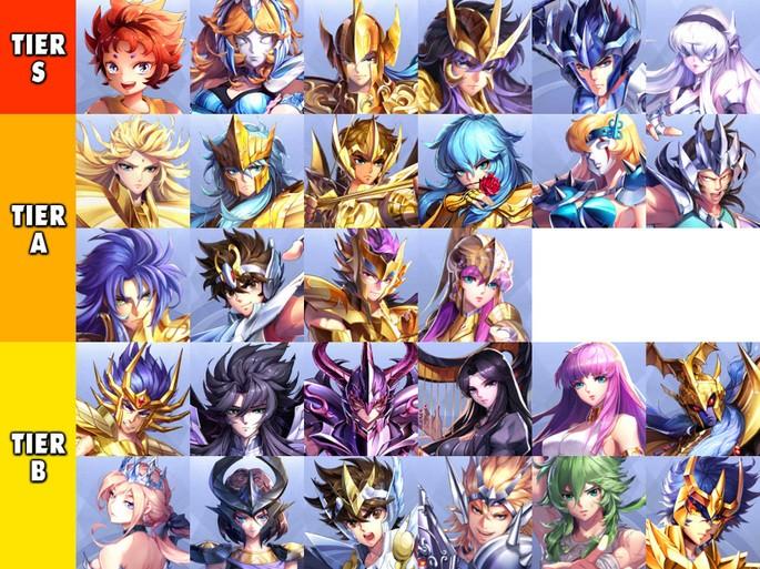 Tier List para el modo historia - Saint Seiya: Awakening