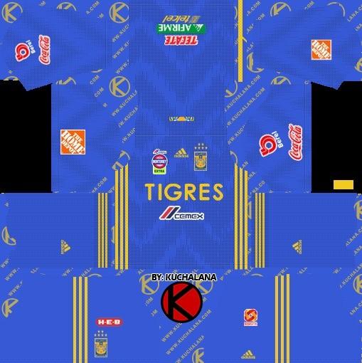Tigres UANL equipación visitante