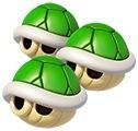 Triple caparazón verde MKT