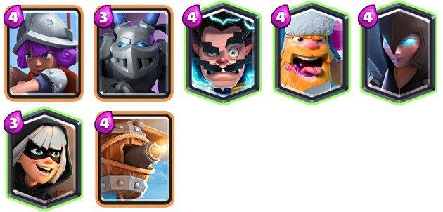 Unidades glass cannon de Clash Royale