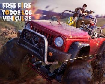 ¡Conoce todos los vehículos de Free Fire!