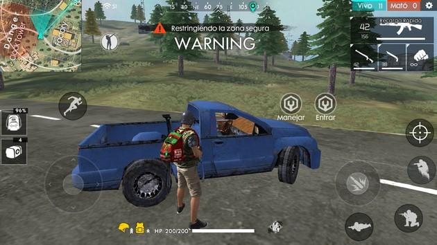 Free Fire vehículos